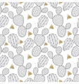 Cactus seamless pattern for fabric Hand drawn vector image vector image