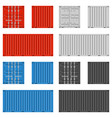 cargo container set vector image vector image