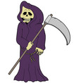 cartoon grim reaper vector image