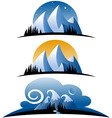 cartoon mountains vector image vector image