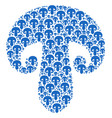 champignon mushroom icon shape vector image vector image
