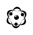 chaotic movement atoms and molecules vector image vector image