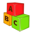 Children cubes with letters icon cartoon style vector image vector image