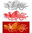 chinese phoenix set vector image vector image