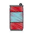 color crayon stripe cartoon soda can of drinks vector image