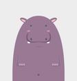 cute fat big hippopotamus vector image vector image
