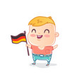 cute kid with flag germany vector image