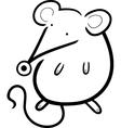 cute mouse cartoon for coloring book vector image