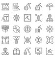 data mining concept outline icons set vector image