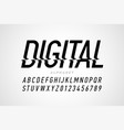 digital distortion style font capital letters and vector image vector image