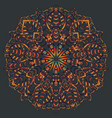 ethnic mandala design eastern pattern round vector image vector image