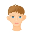 Face of young man icon cartoon style vector image