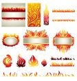 flame design elements vector image vector image