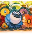 Flower Ceramic Vintage Decoration vector image vector image