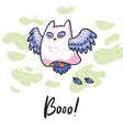 funny print with halloween owl ideal for card vector image