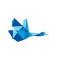 geometric goose tech polygonal logo icon vector image