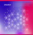 giveaway or gifts concept in honeycombs vector image