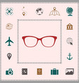 glasses icon symbol elements for your design vector image