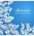 Greeting card template with hand drawn butterfies vector image