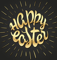 hand drawn easter lettering golden greeting quote vector image vector image