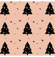 holiday Christmas greeting fir-tree pattern vector image