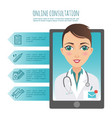 infographic online healthcare diagnosis vector image vector image