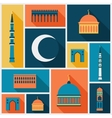 Islamic background with mosque in flat design vector image vector image