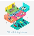 Isometric Office Center Interior Meeting Room vector image