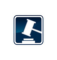 legal court law firm logo company design vector image