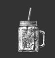 lemonade in mason jar vector image vector image