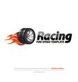 logotype burning wheel vector image vector image