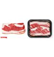 meat fresh steak in package food 3d realistic vector image