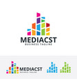 media consult logo vector image vector image