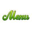 menu title vector image vector image