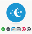 moon and stars icon night sleep sign vector image vector image