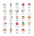 neural network icons set cartoon style vector image vector image