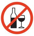 no alcohol mark vector image