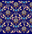 paisley folkloric flowers seamless pattern ethnic vector image
