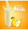Pear sweet milkshake dessert cocktail vector image vector image
