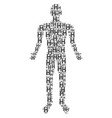 persons handshake man figure vector image