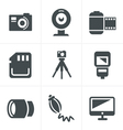 Photography Icons Set Design vector image vector image