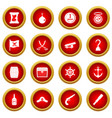 pirate icon red circle set vector image vector image