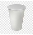 plastic pot mockup realistic style vector image vector image