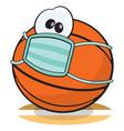 quarantine basketball character vector image
