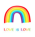 rainbow on white background colorful line set vector image vector image