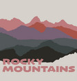rocky mountains vector image