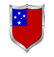 Samoa flag button vector image vector image