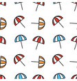 seamless pattern design with beach umbrellas vector image vector image