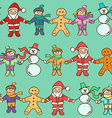 Seamless pattern of Christmas roundelay vector image