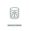 server error outline icon thin line style from vector image vector image